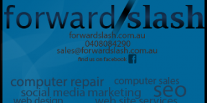 forward slash business card